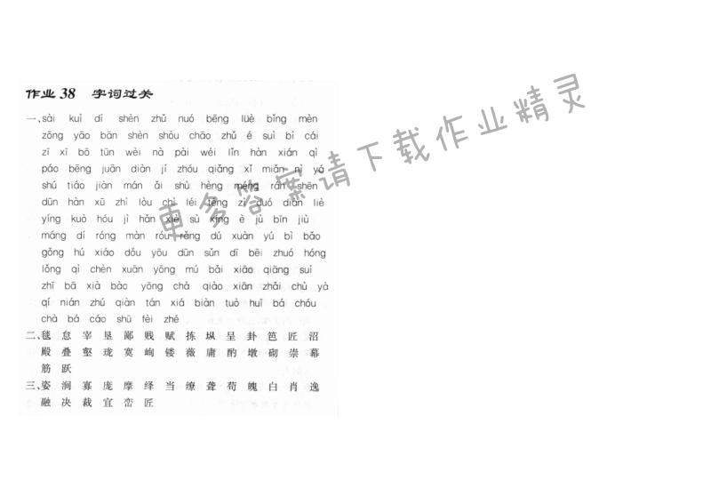 启东中学作业本八年级语文上册人教版 作业38