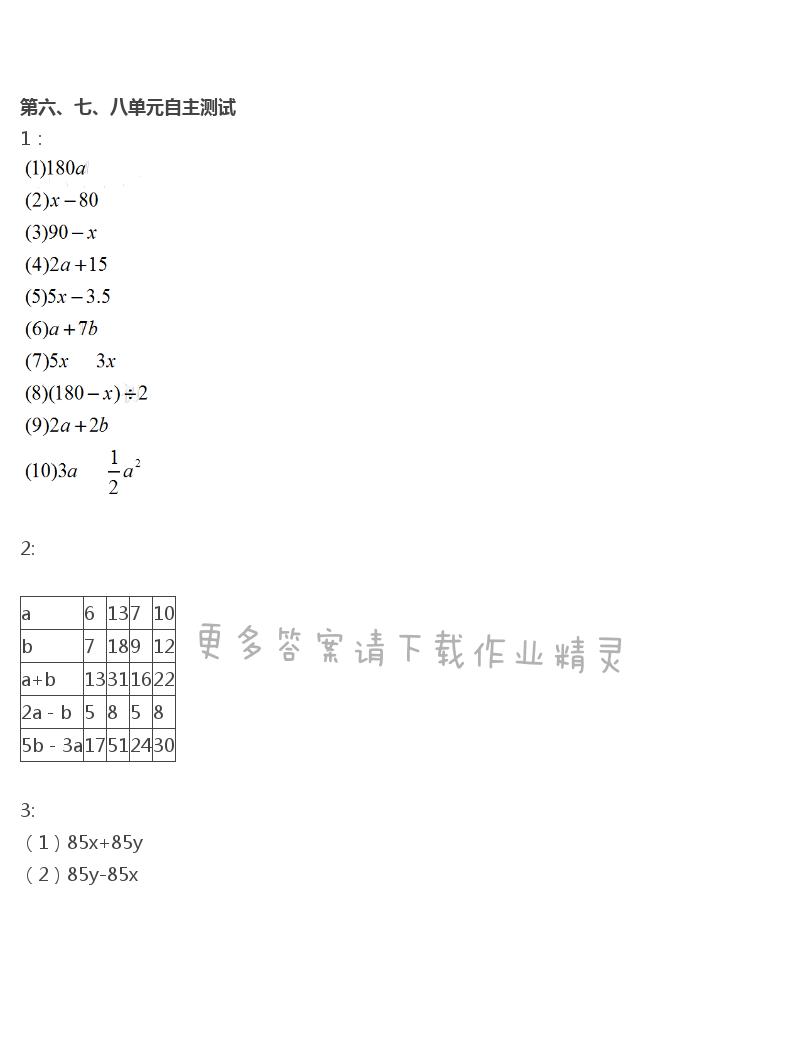 苏教版五年级上册数学练习与测试答案第115页