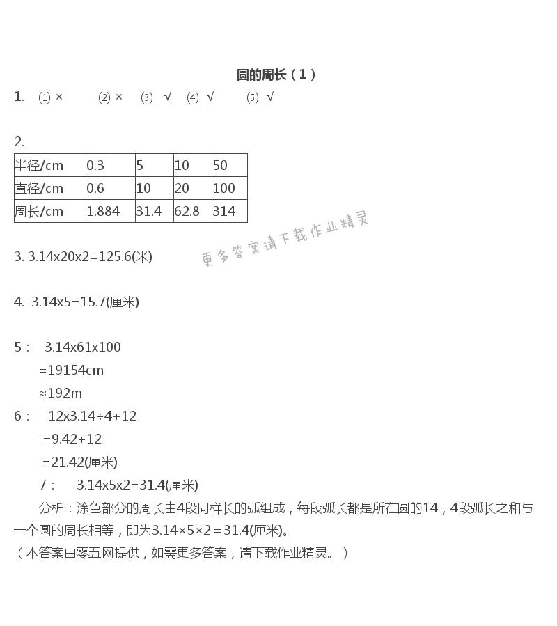 六   圆 - 圆的周长(1)