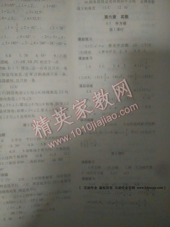 2014年基础训练七年级数学下册人教版仅限河南省内使用大象出版社第9页