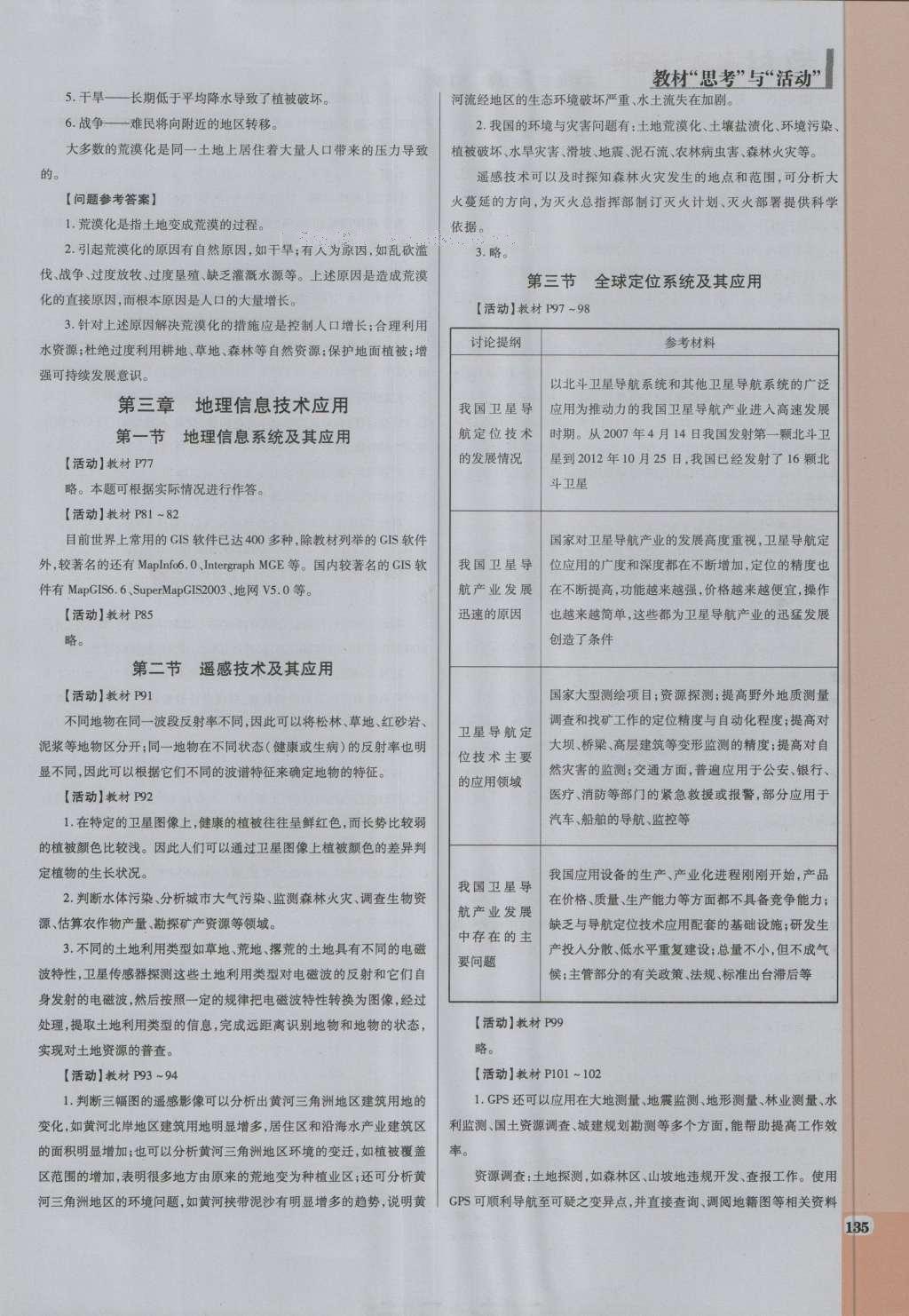 高中地理必修3课本教材(人教版) - 道客巴巴