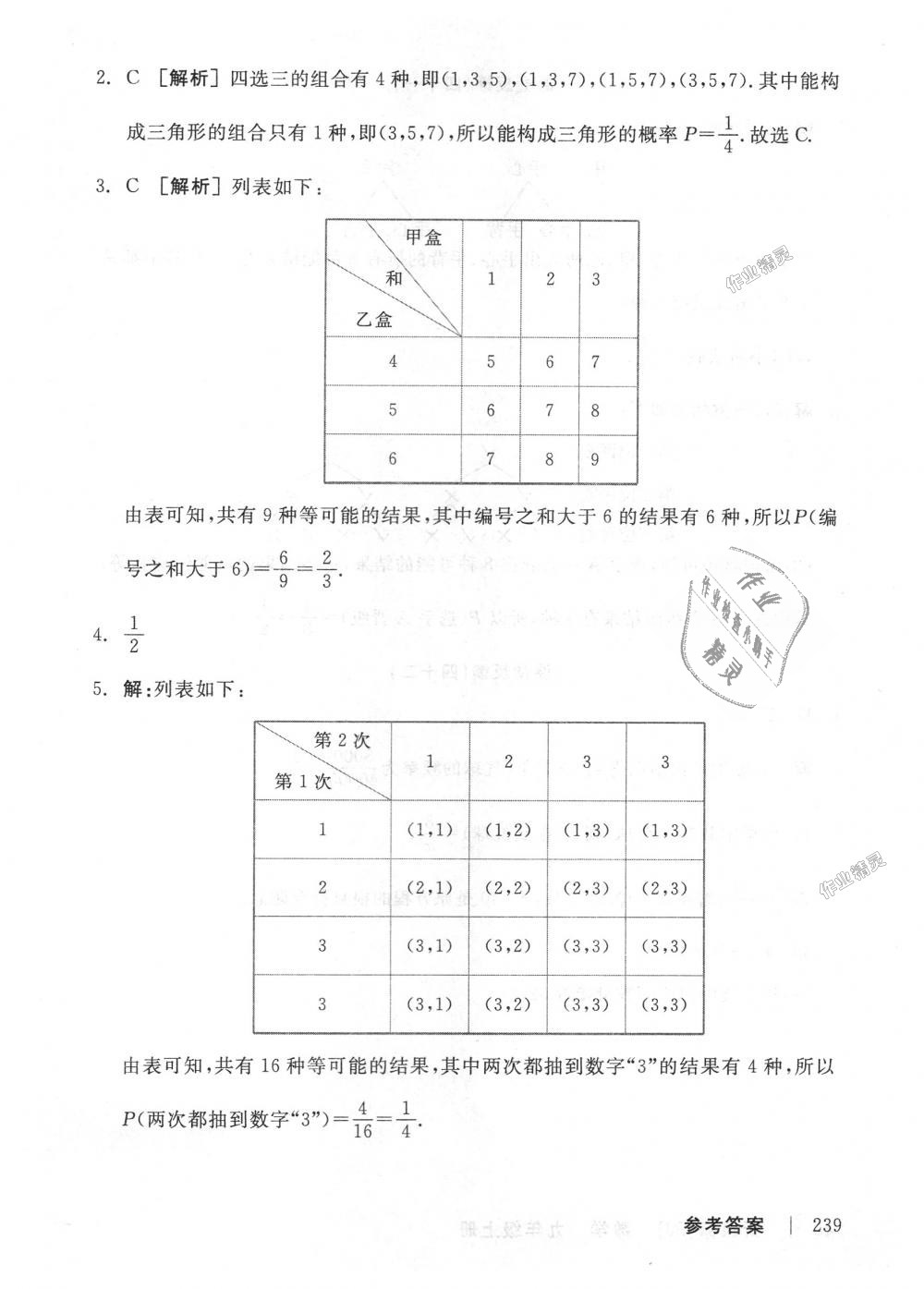 2018年全品学练考九年级数学上册人教版第33页