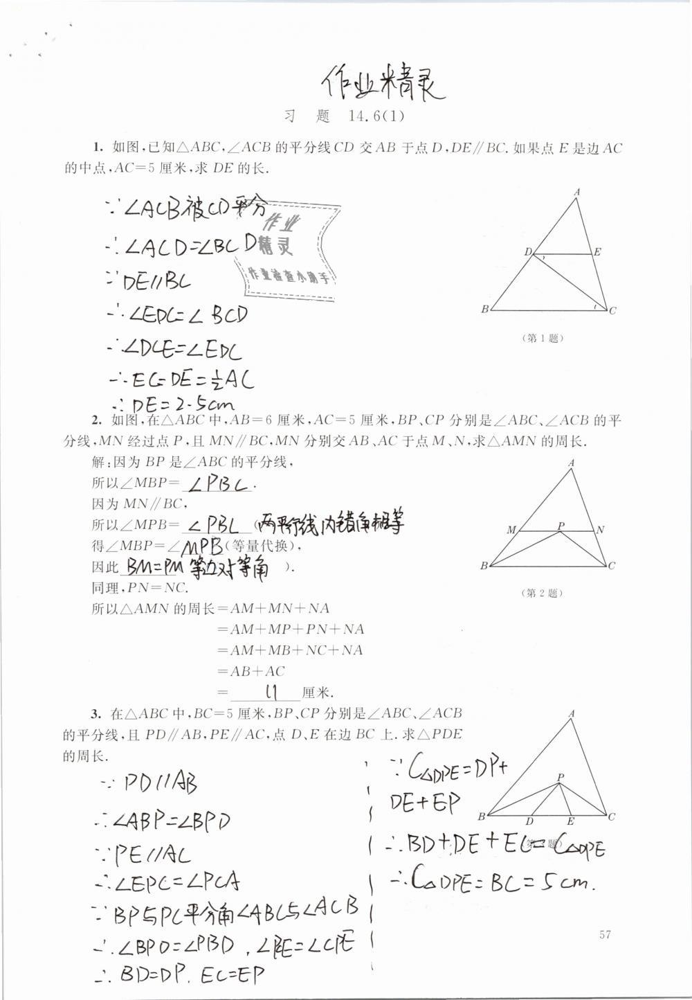 2019年数学练习部分七年级第二学期第57页