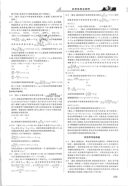 2019年重難點手冊九年級化學下冊人教版第6頁