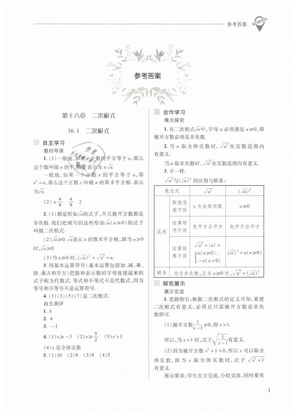 2019年新课程问题解决导学方案八年级数学下册人教版第1页