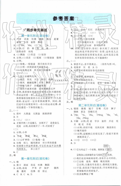 2019年53全优卷小学语文三年级下册人教版第1页