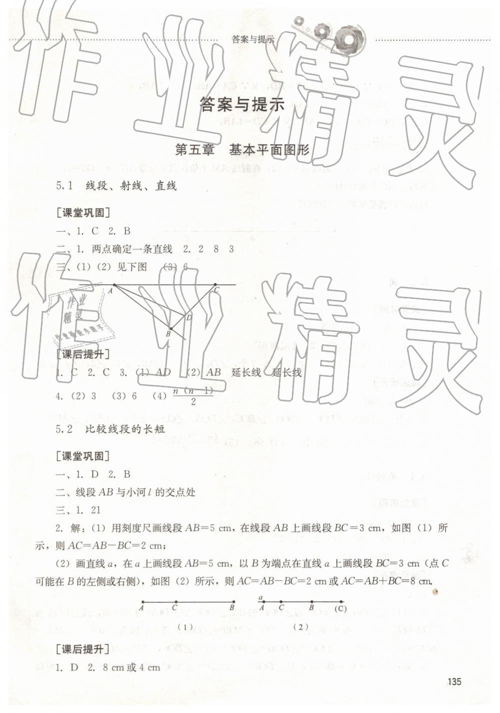 2019年同步训练六年级数学下册鲁教版山东文艺出版社第1页