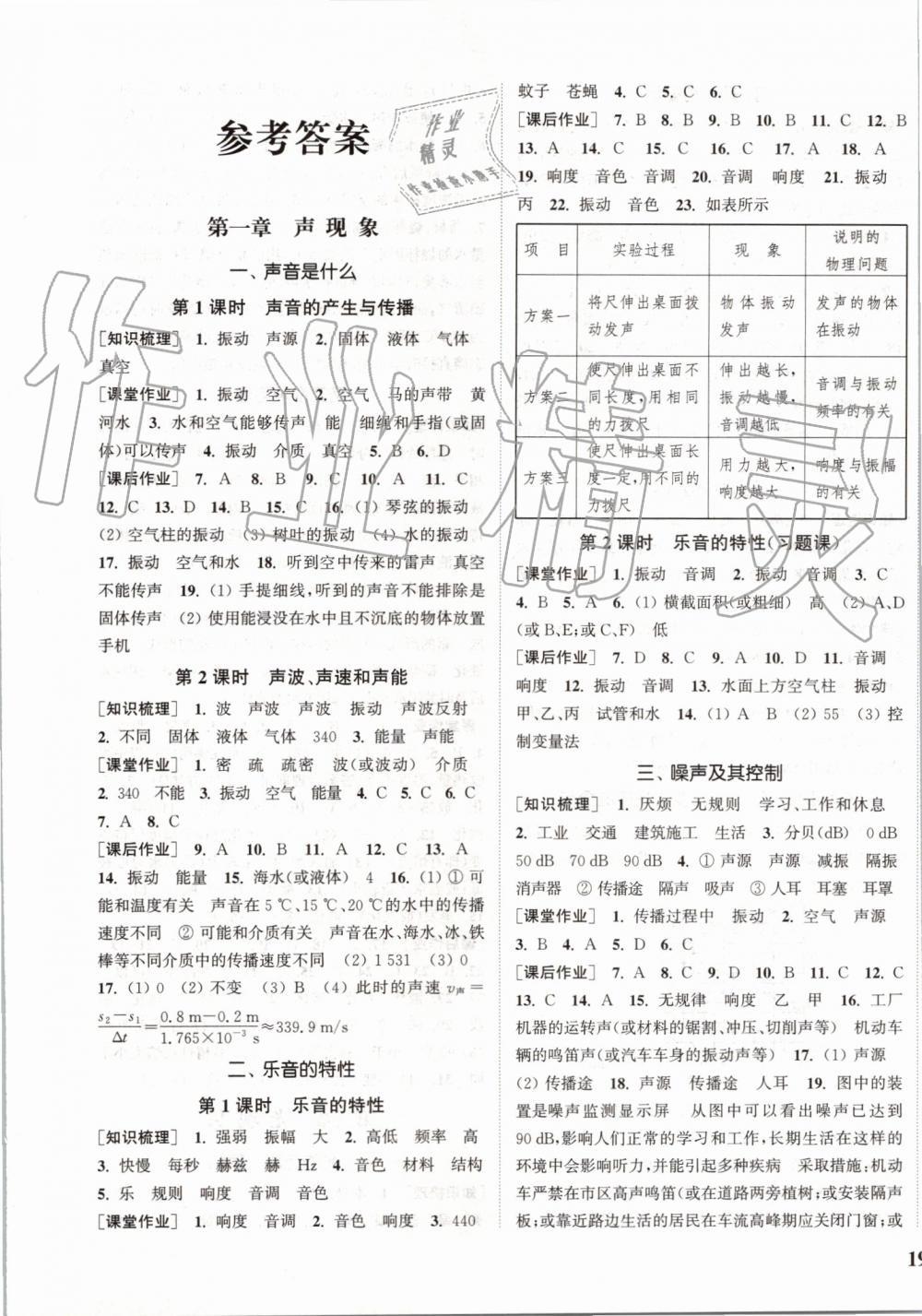 2019年通城学典课时作业本八年级物理上册苏科版江苏专用?第1页