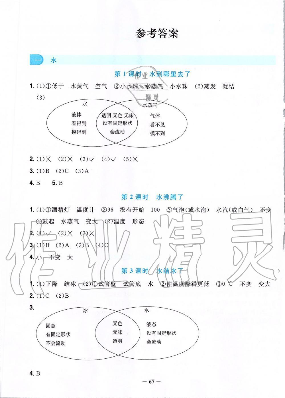 2019年阳光同学课时优化作业三年级科学上册教科版第1页